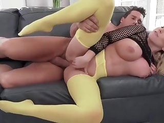 Big boobs MILF - pusillanimous leggings