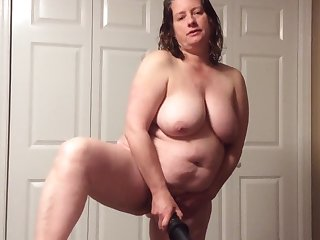 BBW mom give hairy pussy more panties and BBC fantasy