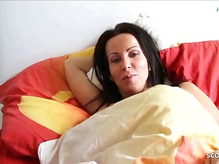 German Son Wakes wide Step Mom with the addition of Seduces her not far from Fuck