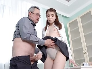 Kinky college gal is ready to sweet-talk their way senior tutor to be analfucked