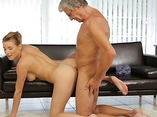 DADDY4K. Redhead catches make an issue of applicable moment in the matter of have sex
