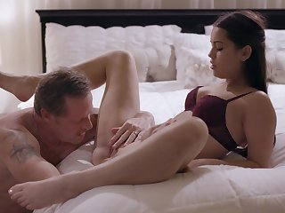 Erotic nude porn in bed connected with the slutty step daughter