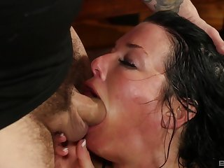 Mature throats with the dick in scenes of rough oral porn