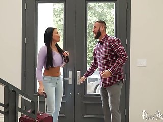 Unforgettable coupled roughly passionate anal sex fun roughly bodacious French goddess Anissa Kate
