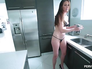After dick licking Sofie Marie sits on a boyfriend's unending shaft