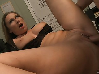 Pierced pussy Devon Lee gets banged on slay rub elbows with office's gaming-table with a stranger