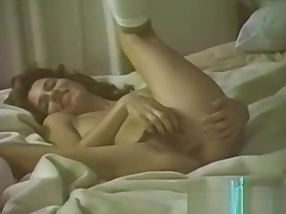 Vintage hairy wife licked on touching good shape fucked on touching bed