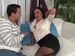 After she takes her clothes off Claudia Valentine gets her cunt destroyed