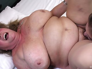 BBW gets her wet pussy fractured and fucked by her horny lesbian friend