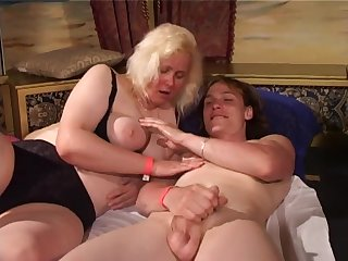 Group sex with old chubby whores