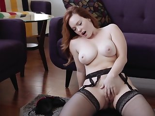 jerk off encouragement redhead obese boobs