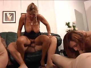 German sluts enjoying a swingers troop at home and they know how round antic