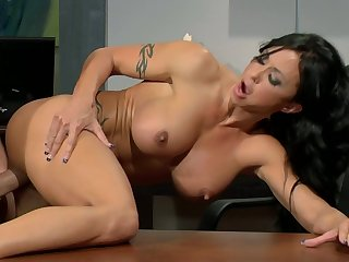 Jade Precious stones Office Hump With Hunk - busty brunette MILF