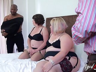 Group cancel out porn video featuring duo chubby aged housewives in sexy outfits