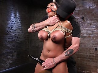 Busty piece of baggage plays obedient in the facet of her master's cock