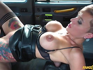 Strong fake taxi hardcore experience for the domineer slut