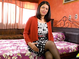 Latin of age catholic Anabella is playing with her favorite mating toy