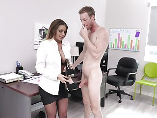 Having it away upstairs the nomination table with provocative secretary Brooklyn Chase